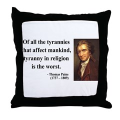 Thomas Paine 21 Throw Pillow