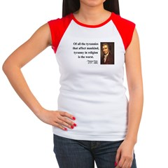 Thomas Paine 21 Women's Cap Sleeve T-Shirt