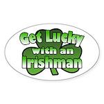 Get Lucky with an Irishman Oval Sticker