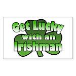 Get Lucky with an Irishman Rectangle Sticker