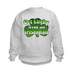 Get Lucky with an Irishman Kids Sweatshirt