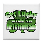 Get Lucky with an Irishman Tile Coaster