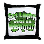 Get Lucky with an Irishman Throw Pillow