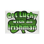 Get Lucky with an Irishman Rectangle Magnet