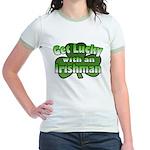 Get Lucky with an Irishman Jr. Ringer T-Shirt