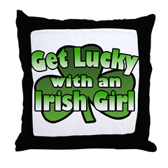 Get Lucky with an Irish Girl Throw Pillow
