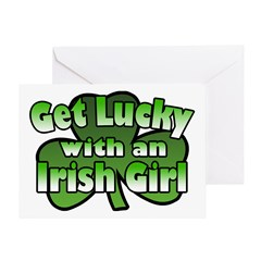 Get Lucky with an Irish Girl Greeting Card