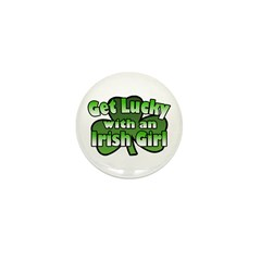 Get Lucky with an Irish Girl Mini Button