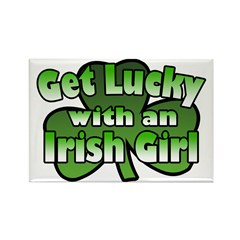 Get Lucky with an Irish Girl Rectangle Magnet