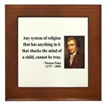 Thomas Paine 19 Framed Tile