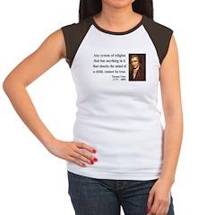 Thomas Paine 19 Women's Cap Sleeve T-Shirt