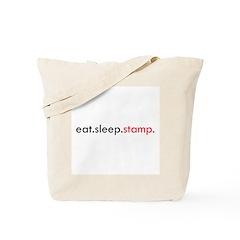 Eat Sleep Stamp Tote Bag