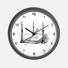 3 Lesser Masonic Lights Wall Clock