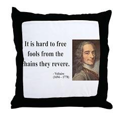 Voltaire 5 Throw Pillow