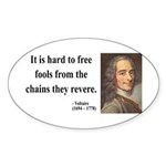 Voltaire 5 Oval Sticker