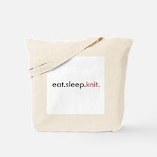 Eat Sleep Knit Tote Bag