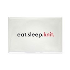 Eat Sleep Knit Rectangle Magnet (10 pack)