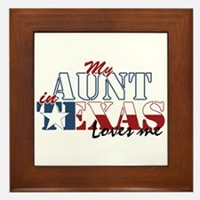 My Aunt in TX Framed Tile