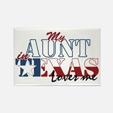 My Aunt in TX Rectangle Magnet