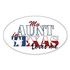 My Aunt in TX Oval Decal