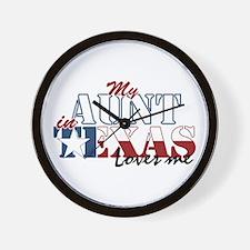 My Aunt in TX Wall Clock