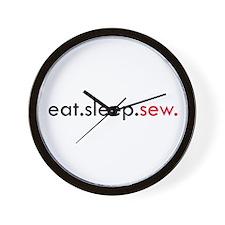 Eat Sleep Sew Wall Clock