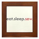 Eat Sleep Sew Framed Tile