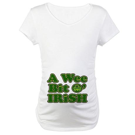 Wee Bit O Irish Maternity T-Shirt