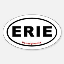 ERIE Euro Oval Decal T-shi Oval Decal