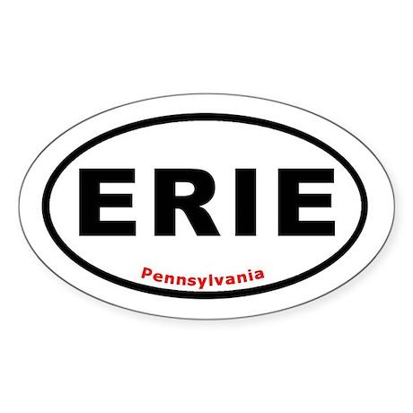 ERIE Euro Oval Sticker T-shi Oval Sticker