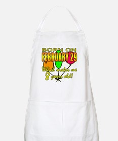 Born Feb 29, You're 8 Years Old BBQ Apron