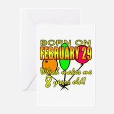 Born Feb 29, You're 8 Years Old Greeting Cards (Pk