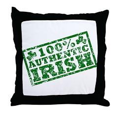 100 Percent Authentic Irish Throw Pillow