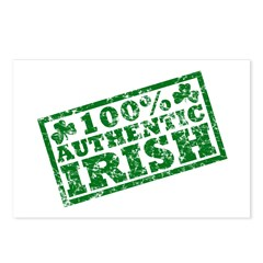 100 Percent Authentic Irish Postcards (Package of