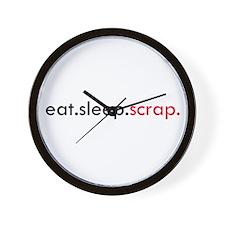 Eat Sleep Scrap Wall Clock
