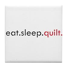Eat Sleep Quilt Tile Coaster