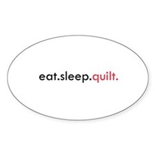 Eat Sleep Quilt Oval Decal