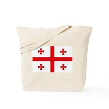 Nation of Georgia Flag Shirts Tote Bag