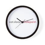 Eat Sleep Needlepoint Wall Clock