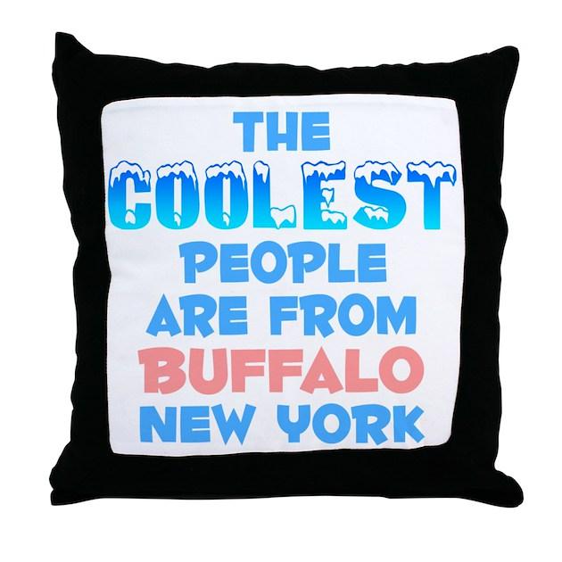 Coolest: Buffalo, NY Throw Pillow By Mycityishot