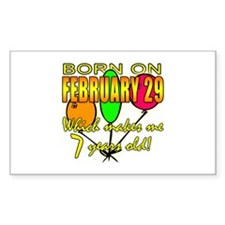 Leap Year Birthday, You're 7 Years Old Decal