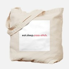 Eat Sleep Cross Stitch Tote Bag