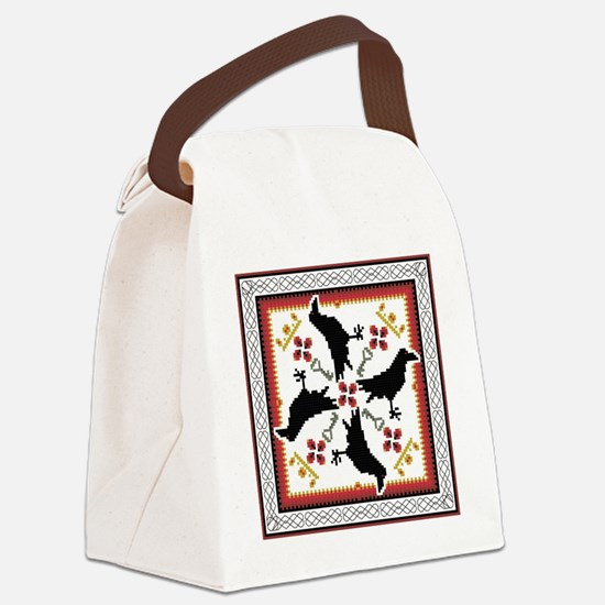Unique Celtic crow Canvas Lunch Bag