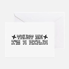 Trust me I'm a Ninja Greeting Card