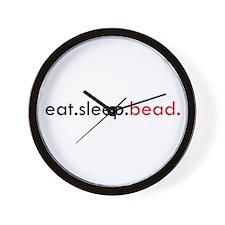 Eat Sleep Bead Wall Clock