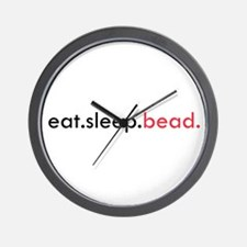 Eat Sleep Bead Wall Clock