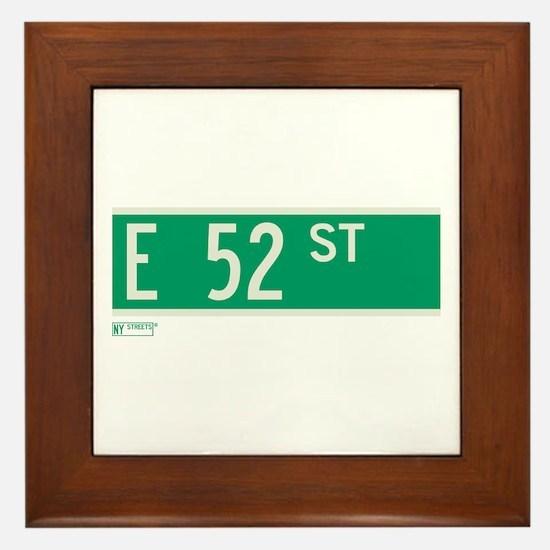 52nd Street in NY Framed Tile