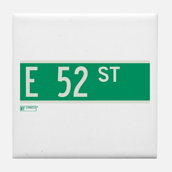 52nd Street in NY Tile Coaster