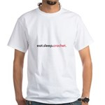 Eat Sleep Crochet White T-Shirt