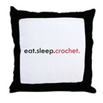 Eat Sleep Crochet Throw Pillow